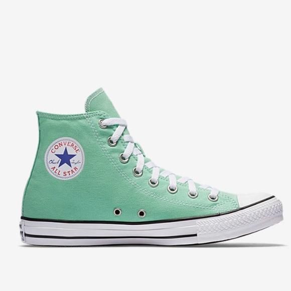 mint green converse high top